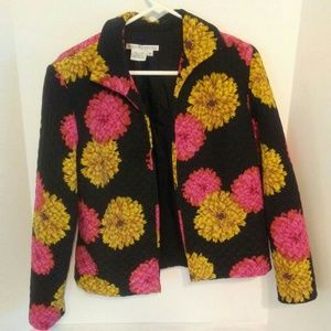 100% Silk Maggy London Floral Jacket